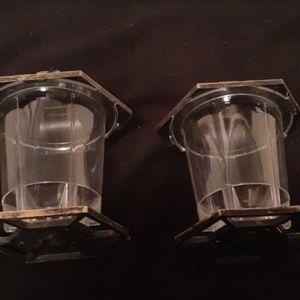 2 pagoda style bird feeders